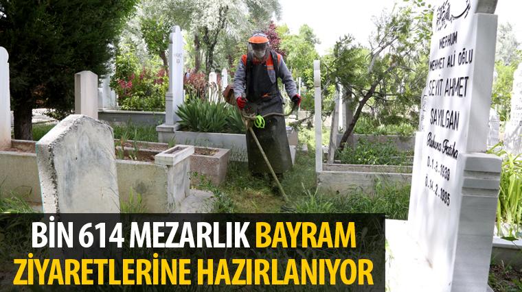 Bin 614 Mezarlık Bayram Ziyaretlerine Hazırlanıyor