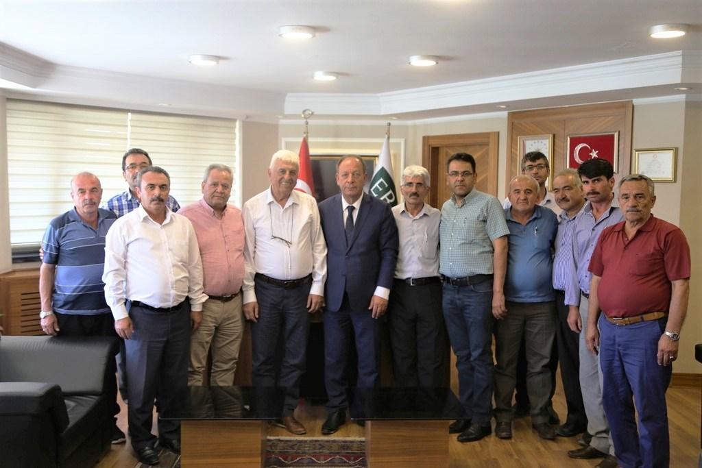 Türkiye Muhtarlar Federasyonundan Başkan Oprukçuya Ziyaret