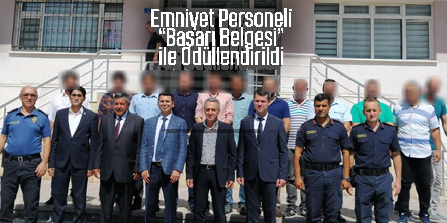 ÇİFTÇİ EREĞLİ POLİSİNİ ''BAŞARILARINDAN DOLAYI ÖDÜLLENDİRDİ''
