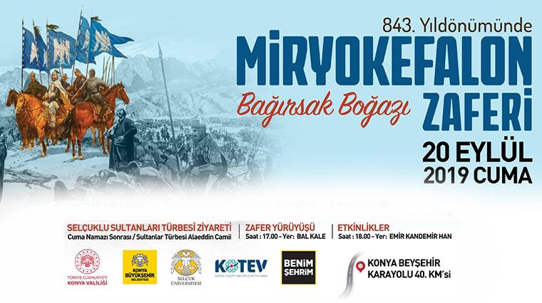Miryokefalon Zaferi'nin 843. Yıl Dönümü Konya'da Kutlanacak
