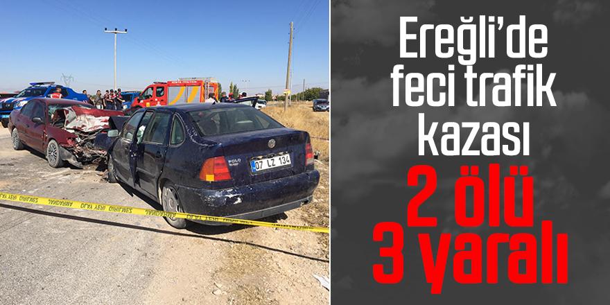 2 otomobil çarpıştı: 2 ölü, 3 yaralı