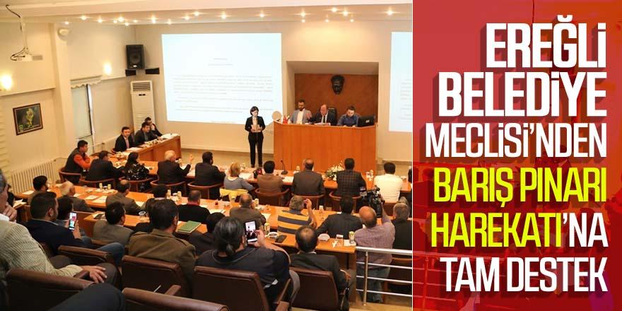 Ereğli Belediye Meclisi'nden Barış Pınarı Harekatı'na Tam Destek