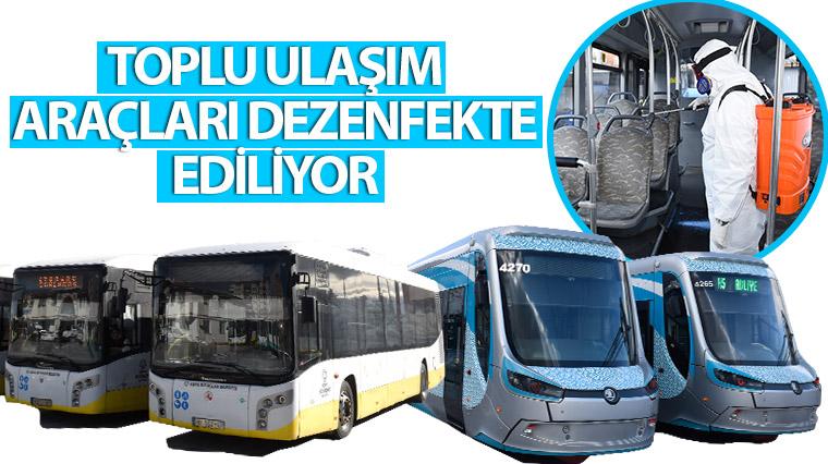 Toplu Ulaşım Araçları Dezenfekte Ediliyor