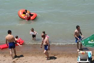 Anadolunun ortasında plaj keyfi